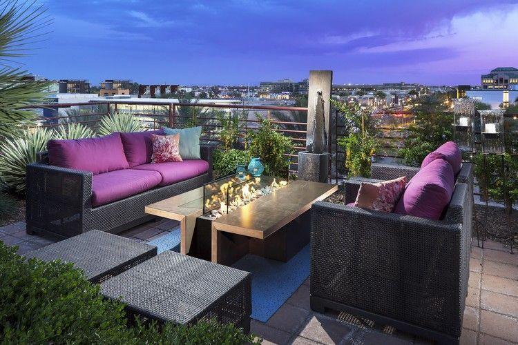 aménager une terrasse d\'appartement avec des meubles en résine ...