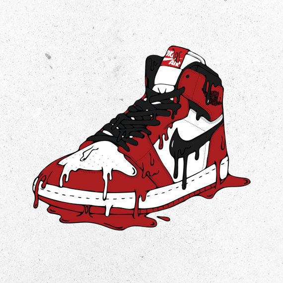Air Jordan 1 20 X30 Poster Print Michael Jordan Nike Air Jordan Red Black Jordan 1 Sneaker Nike Art Sneakers Illustration Air Jordans