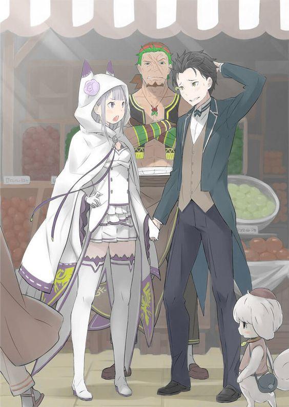 Natsuki Subaru Emilia Anime Re Life In A Different World From Zero