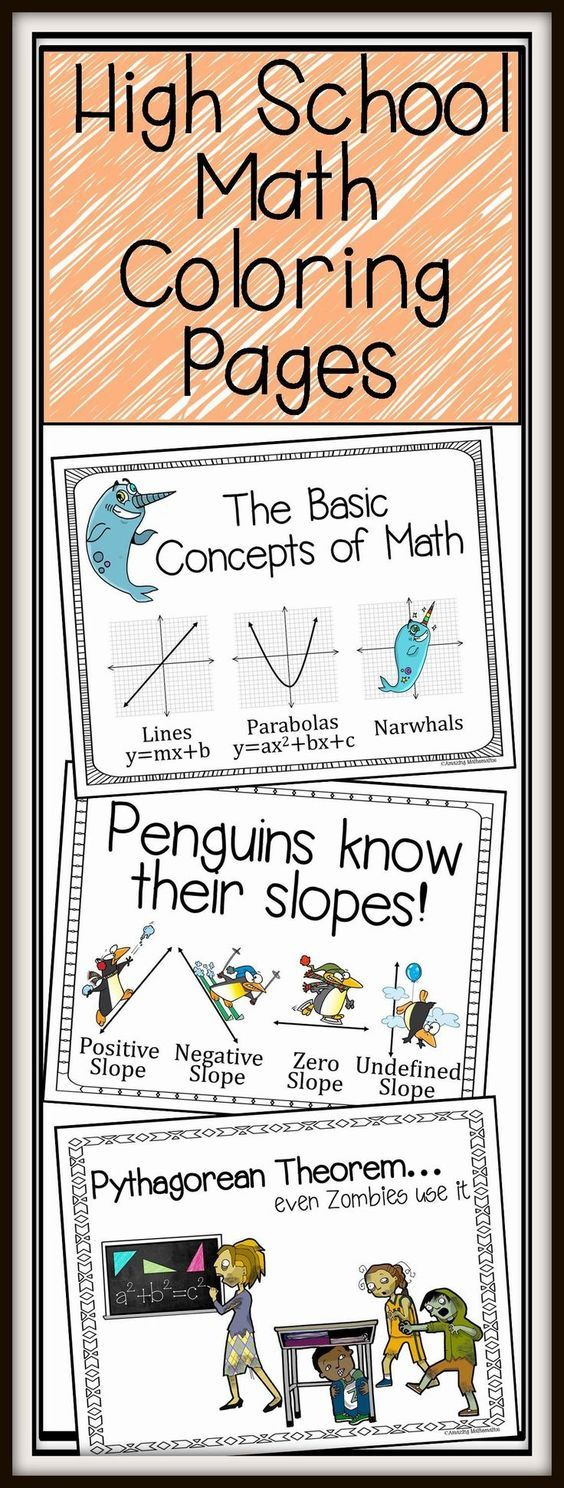 Fun coloring activities for middle school - Coloring Pages High School Math