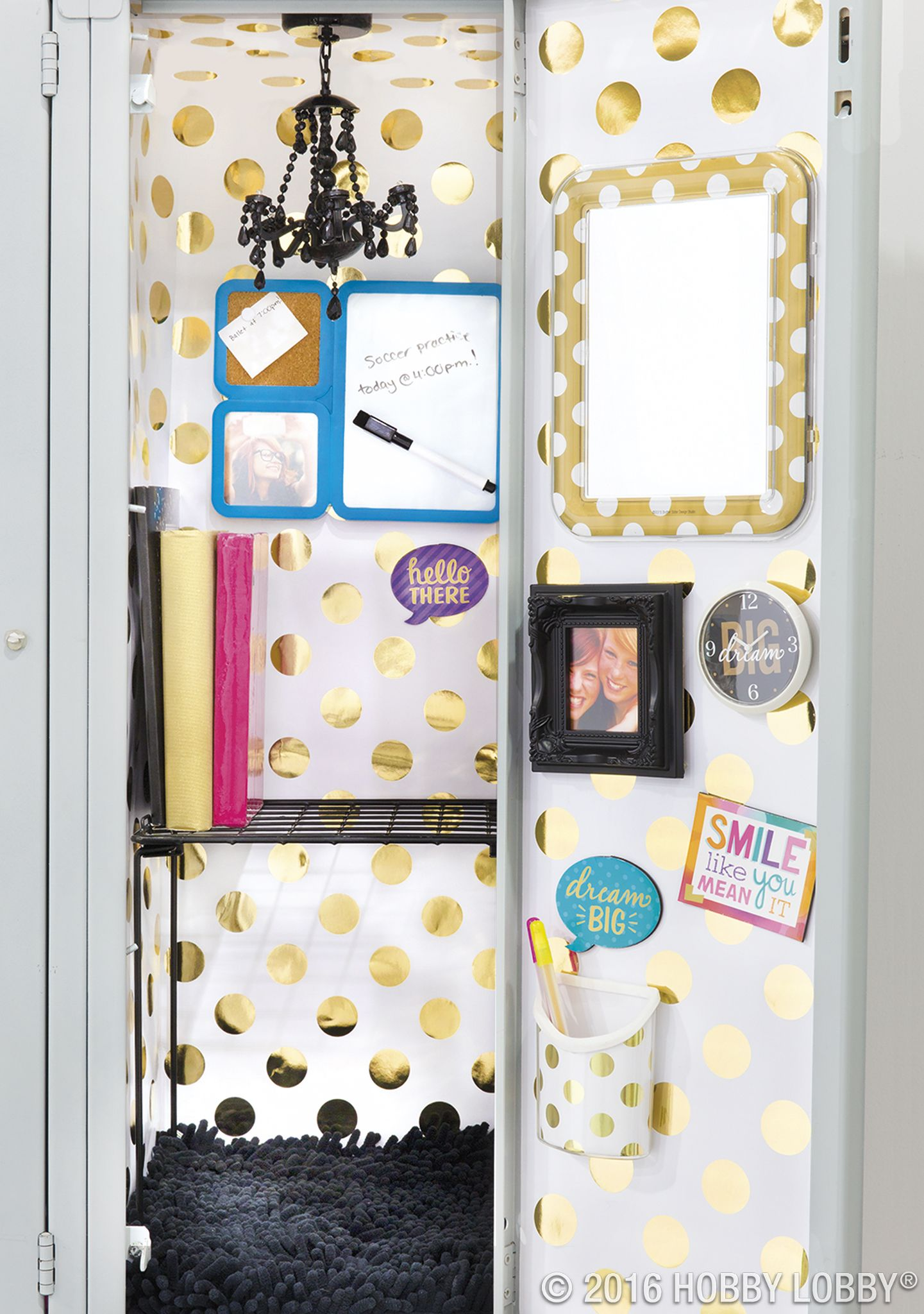 Locker Decoration Ideas add your own personality to your school space. simply mix and
