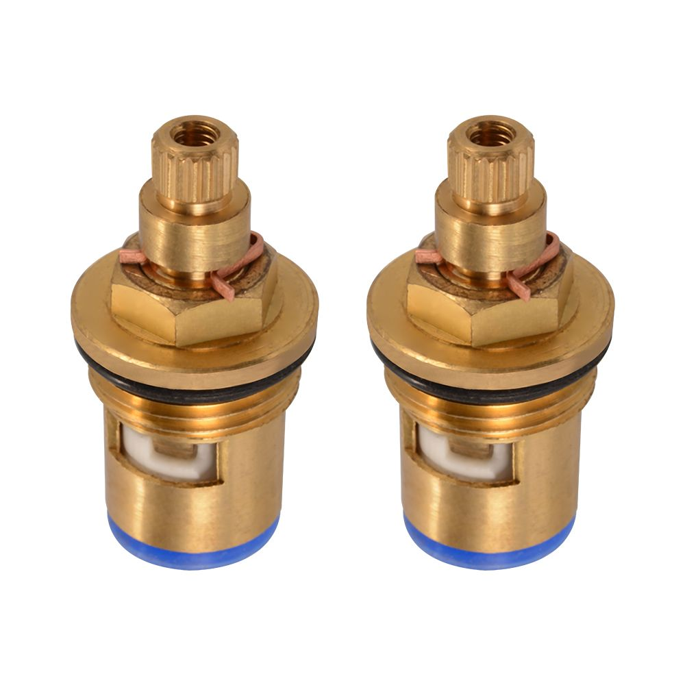 2x Replacement Brass 1 4 Turn Ceramic Disc Cartridge Hot Cold Tap Valve Hs919 Sz Tap Valve Cartridges Ceramics