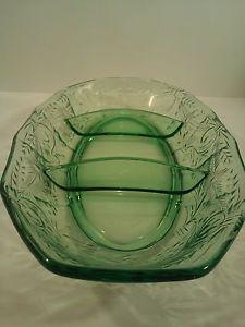 Vintage-Green-Depression-Glass-3-Section-Oval-Bowl-12