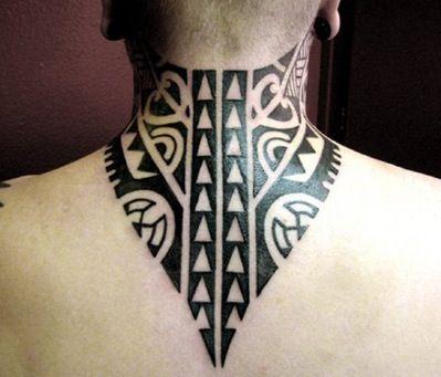 Tatuajes Tribales En El Cuello