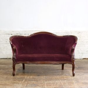 desk and chair burgundy settee wedding decorations 14671