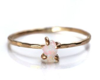 Flash Sale Rough Opal Gold Filled Ring