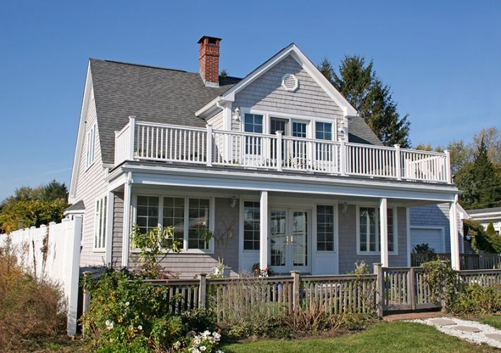 Raise roof to cape with big mbr dormer add balcony and for House plans with dormers and front porch