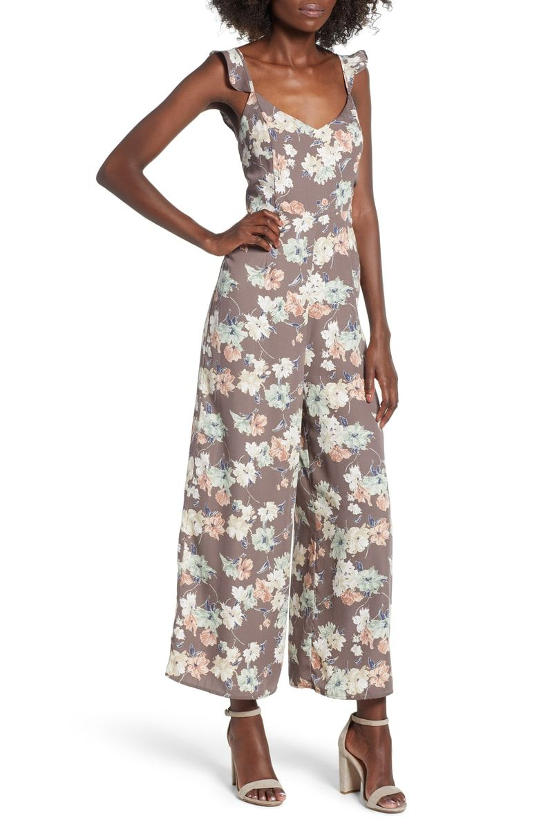 873b4648d79 Free shipping and returns on Leith Ruffle Strap Jumpsuit at Nordstrom.com.  Inspired by