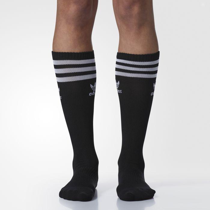 Black Retro Shorts w//White Trim and white kneehigh socks w//black stripes Small