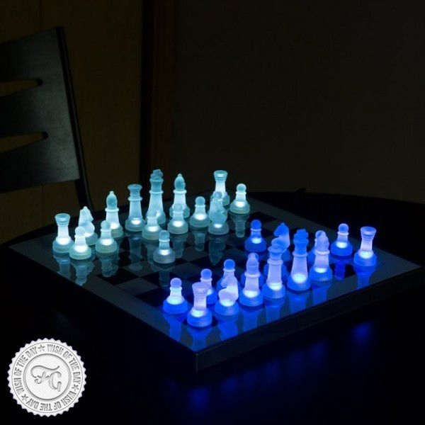 Led Glow Chess Set 40 68 Xadrez Jogo Pecas De Xadrez Tabuleiro De Xadrez
