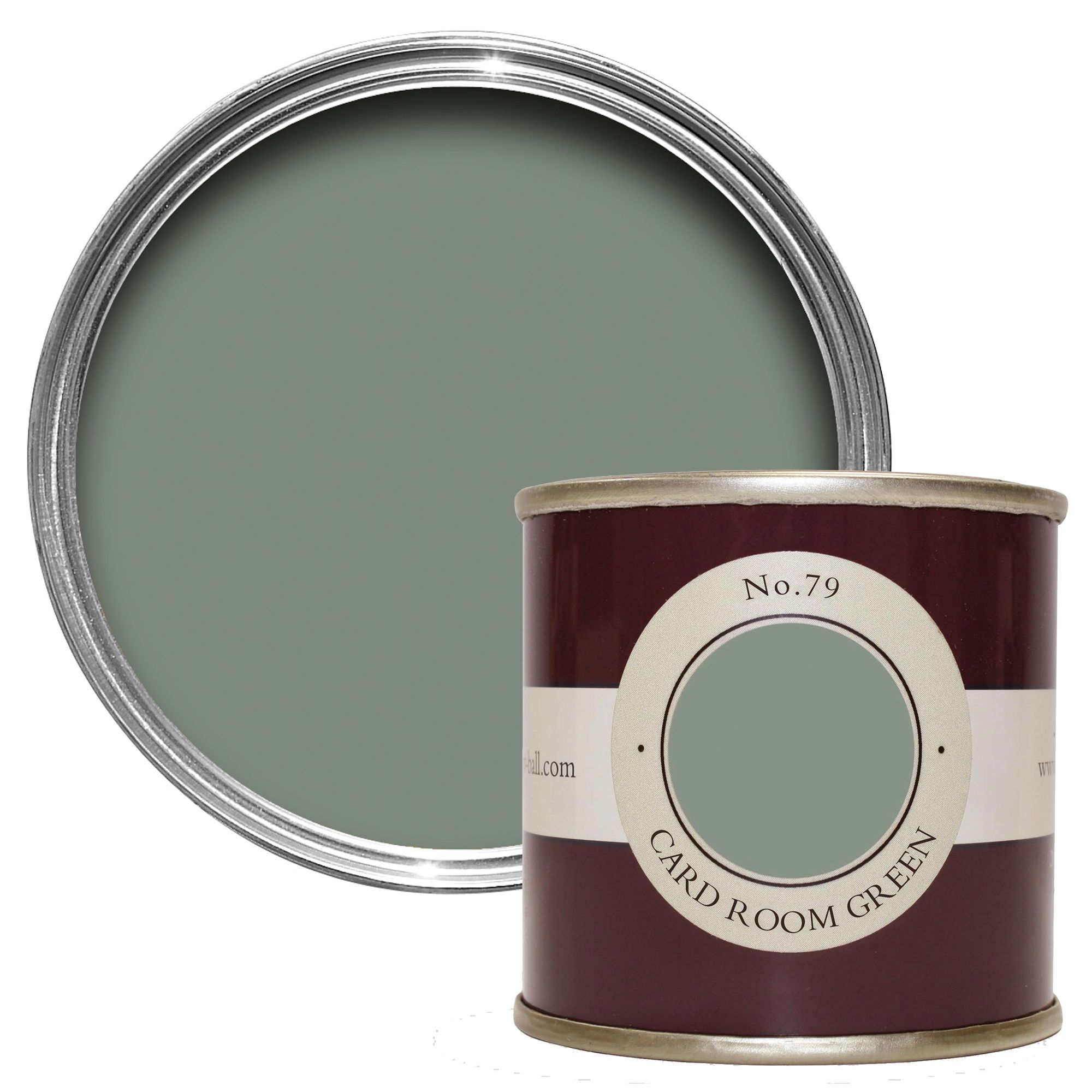 Best Farrow Ball Card Room Green No 79 Estate Emulsion Paint 640 x 480