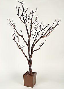 4 Foot Artificial Manzanita Tree in Decorative Pot BOC Select http://www.