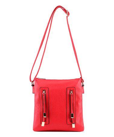 Look at this #zulilyfind! Red Crossbody Bag #zulilyfinds