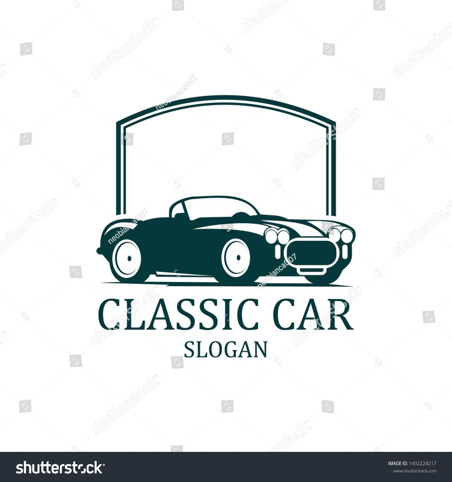 Classic Car Repair Logo 4 Vector Stock Vector (Royalty Free) 1492228217