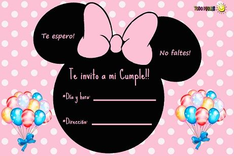 Invitaciones De Minnie Para Descargar Gratis Invitaciones
