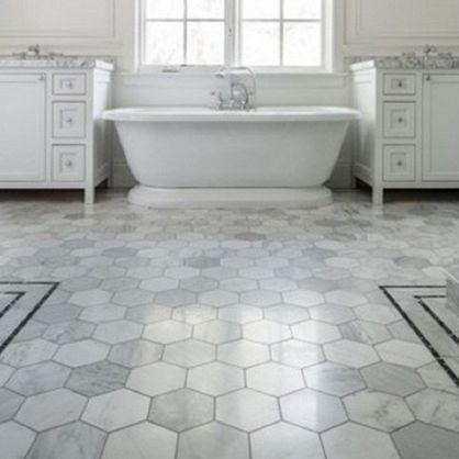 Trend hexagon tile kitchen floors kitchens and hexagon for White bathroom laminate flooring