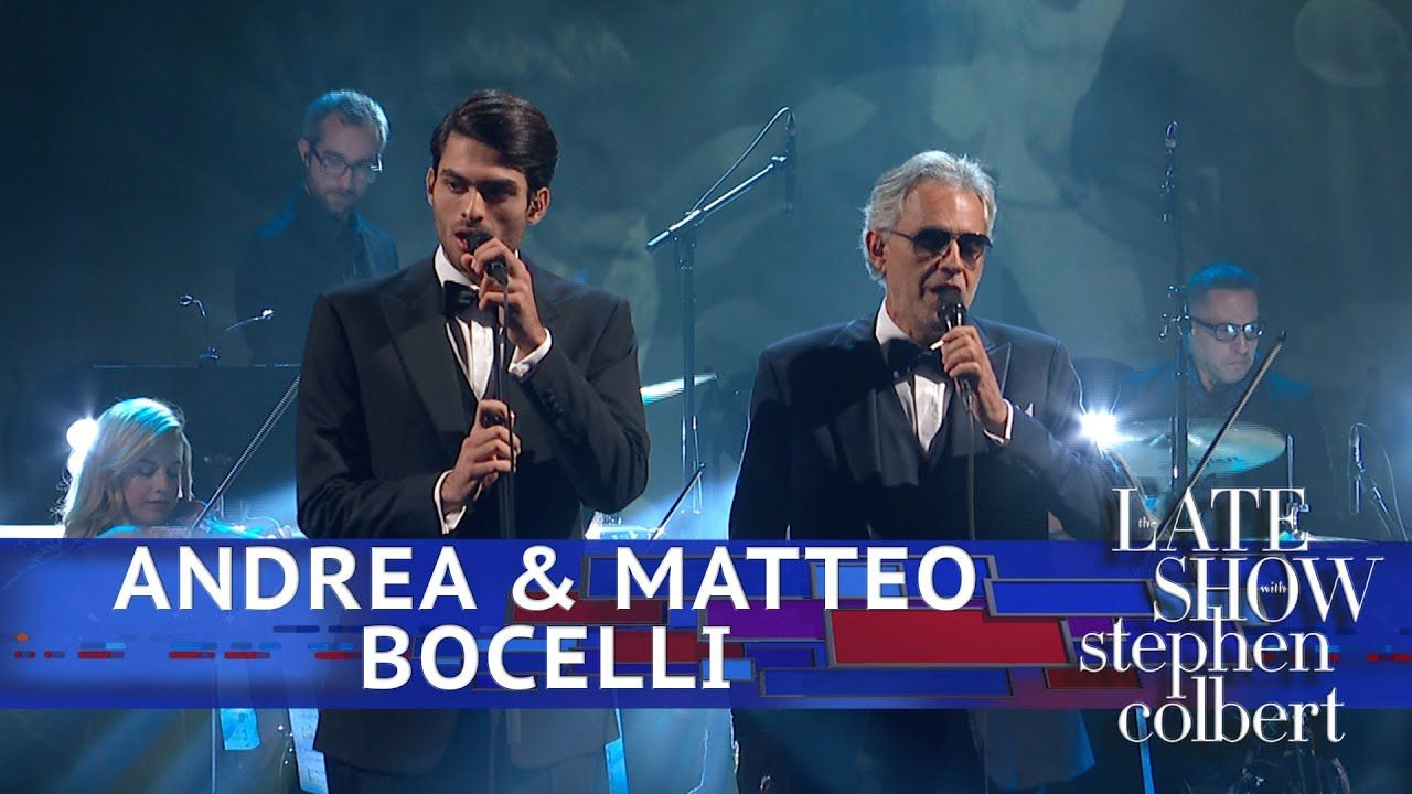 Andrea Matteo Bocelli Perform Fall On Me Youtube Musik