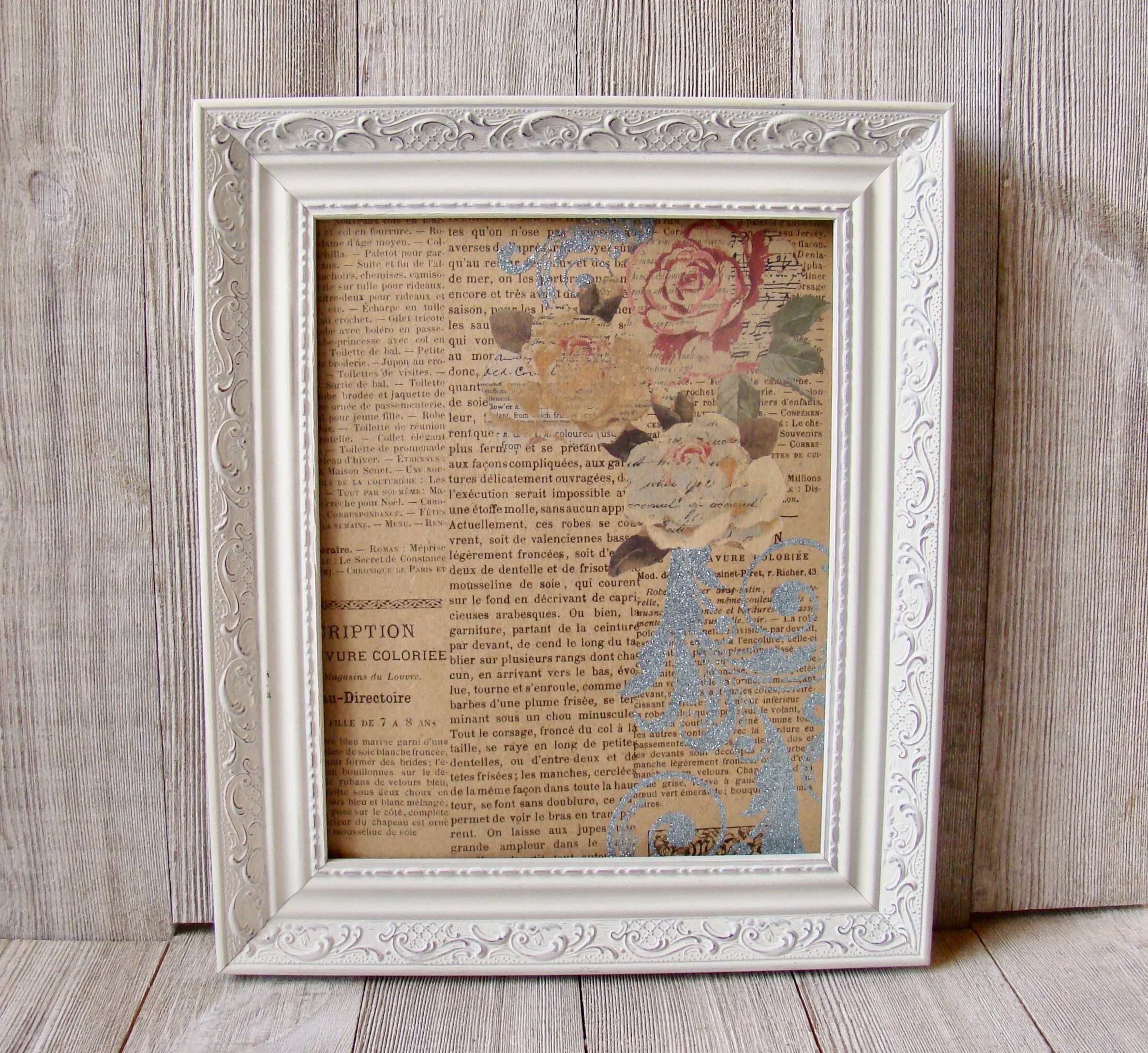 8 X 10 Ornate White Distressed Frame In 2020 White Distressed Frame Frame White Picture Frames