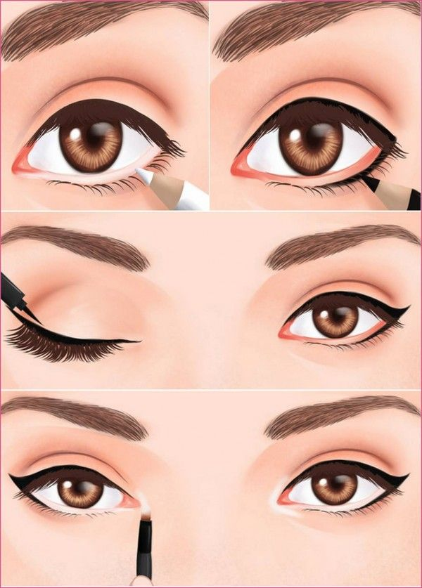 List Of Pinterest How To Apply Eyeliner Step By Step Simple Brown
