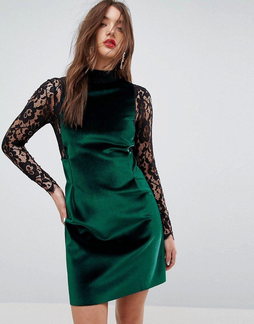 Samt kleid grun zara