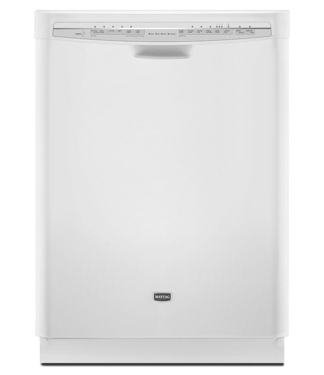 Maytag Jetclean Plus Dishwasher With 100 Stainless Steel Tub Interior Mdb7749saw White Laundry Appliances Maytag Kitchen Maytag