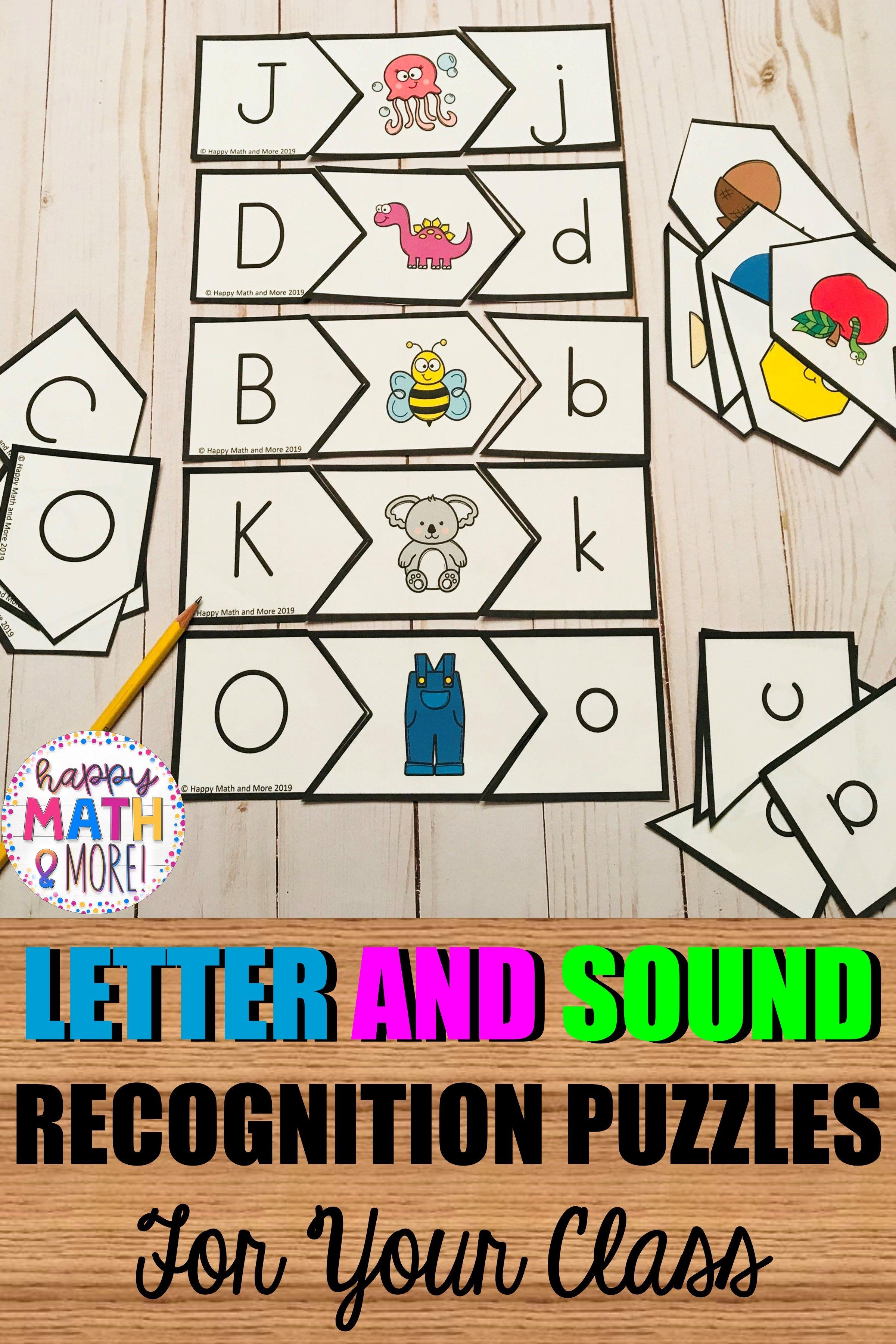 Alphabet Letter And Sound Recognition Puzzles
