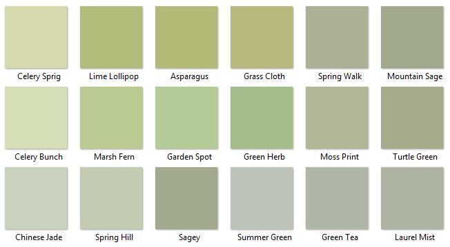 Behr Greens 3 I Like Chinese Jade Summer Green And Green Tea Room Paint Colors Sage Green Paint Green Paint Colors
