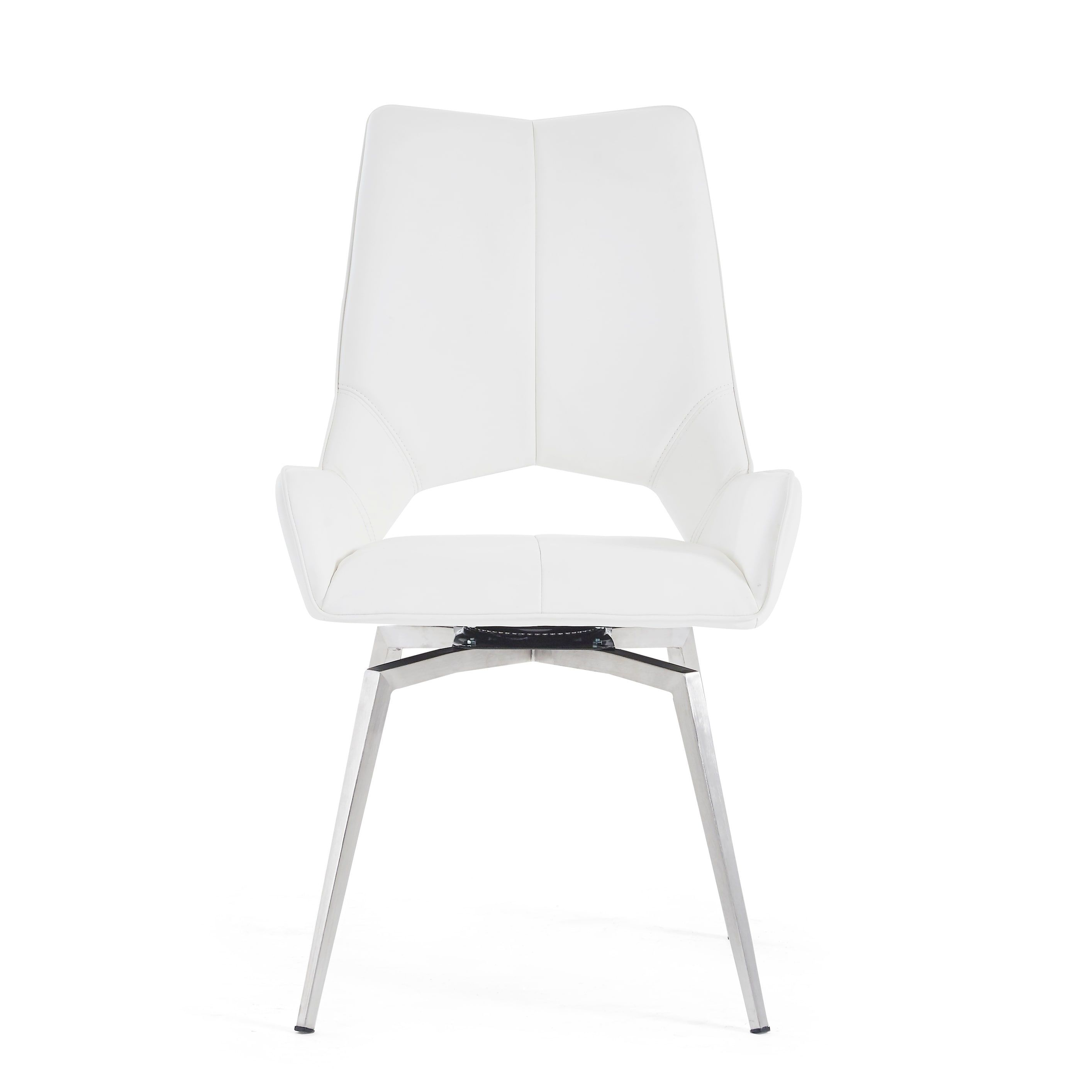 Amazing White Faux Leather Bucket Style Dining Chair Foam Bralicious Painted Fabric Chair Ideas Braliciousco
