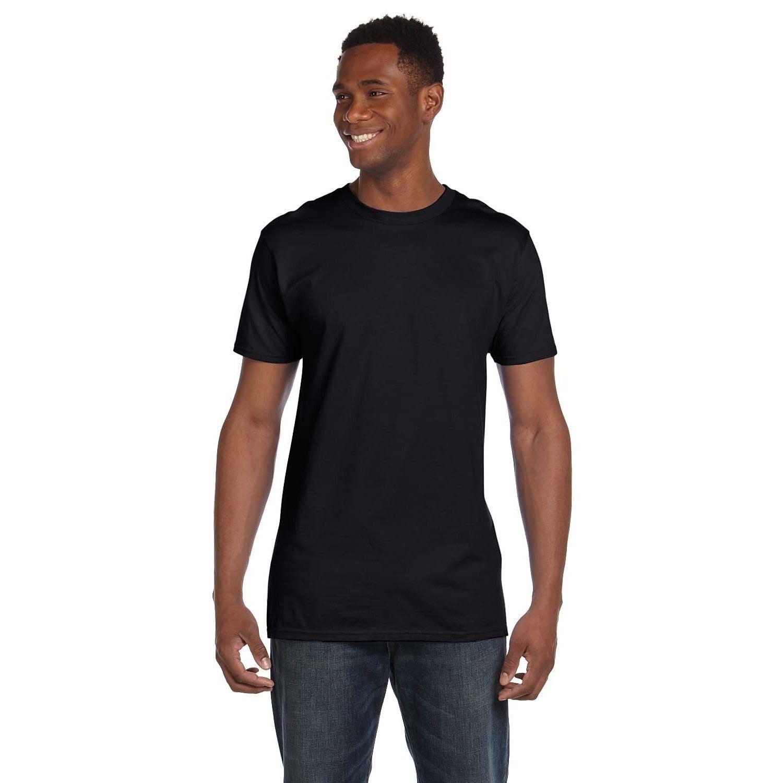 18f3654dde56 Hanes Men's Black Ringspun Cotton Nano-T Undershirts (Pack of 9) (X-Large,  Black), Size: XL