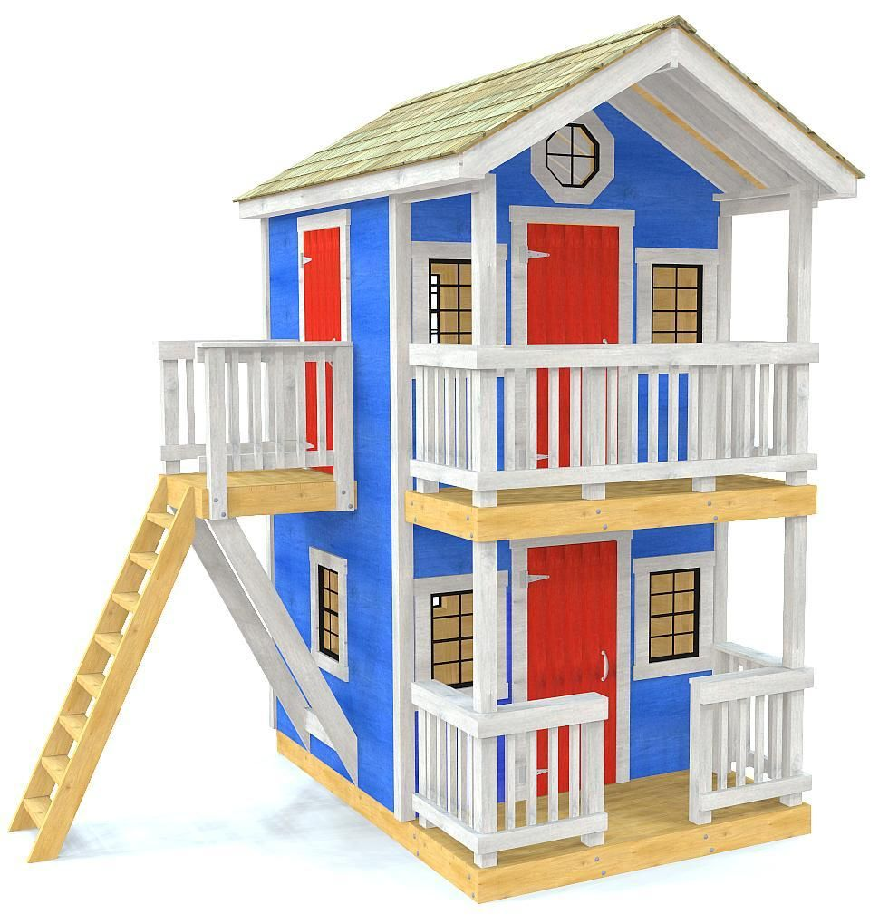 Dandy Duplex Playhouse Plan Play Houses Playhouse Plan Build A Playhouse