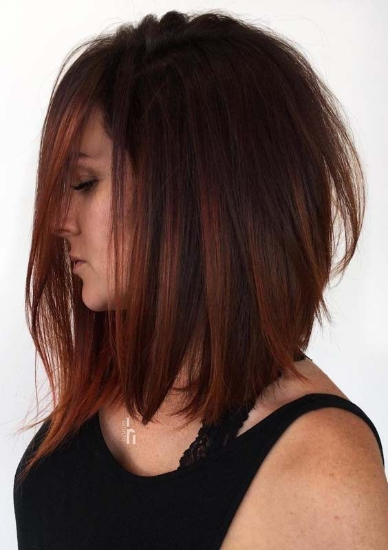 Moderner Long Bob Frisuren Und Haarschnitt Trend Im Jahr 2018 Bob Frisuren Haarschnitttrend Im J Medium Length Hair Styles Medium Long Hair Hair Styles
