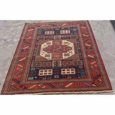 Caucasian Kasak Carpet  Karachov, size 1.79 x 1.43.