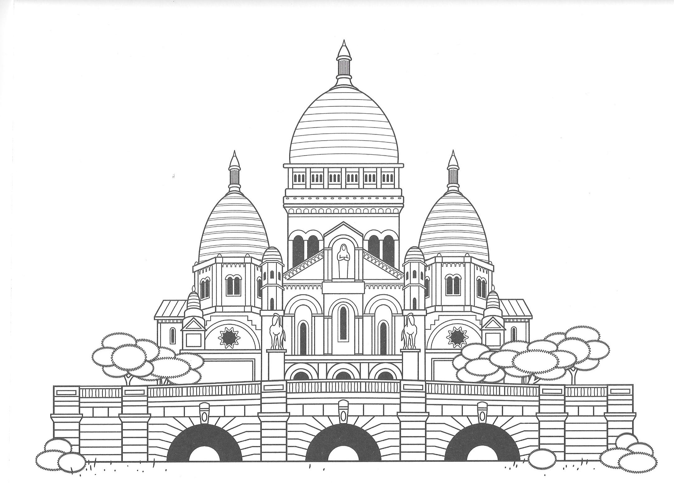 malvorlagen coloring pages tempel india house colour bunt ...