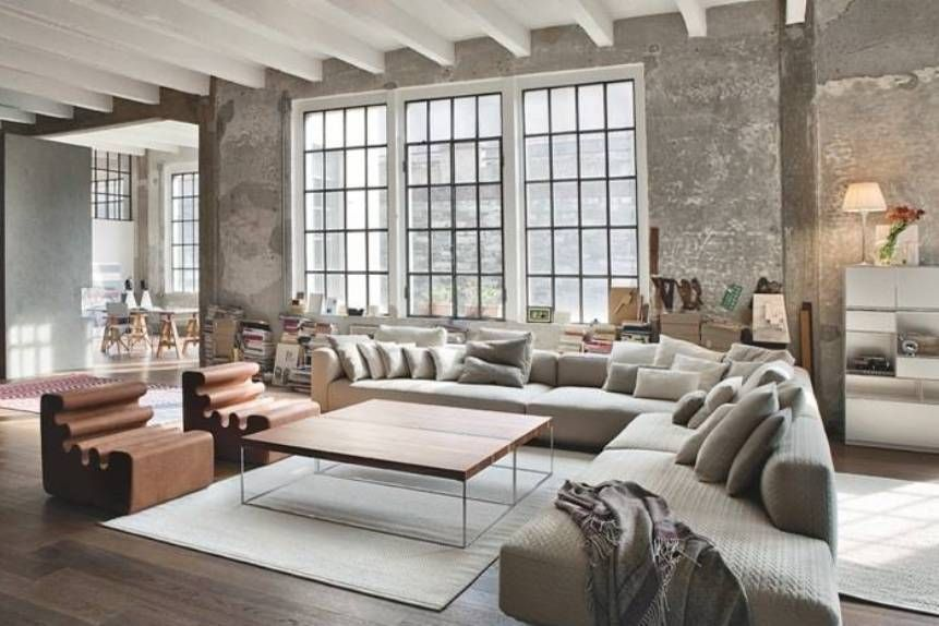 Living Room , Decorate A Big Living Room : Big Living Room Wuth Large  Sectional Sofa