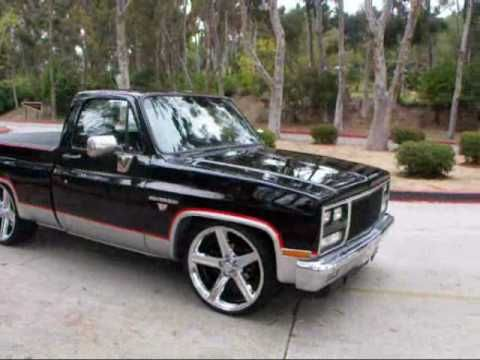 1982 Chevy C10 Shortbed Silverado Modified 350v8 24 In Irocs By Mg Motoring Video 4 Youtube C10 Chevy Truck 1967 Chevy C10 Chevy C10