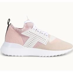 Photo of Tod's – Sneakers aus Strickmaterial, Beige,rosa,weiss, 37.5 – Shoes Tod'sTod's