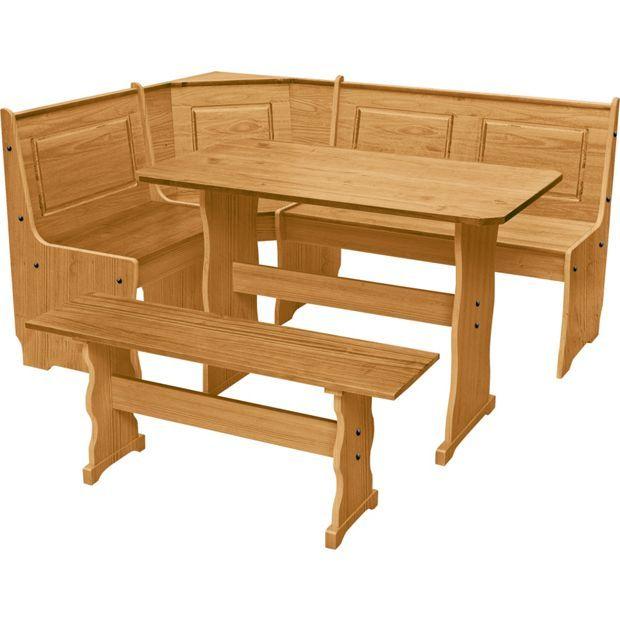 Buy HOME Puerto Rico Nook Table 3 Corner Bench Set