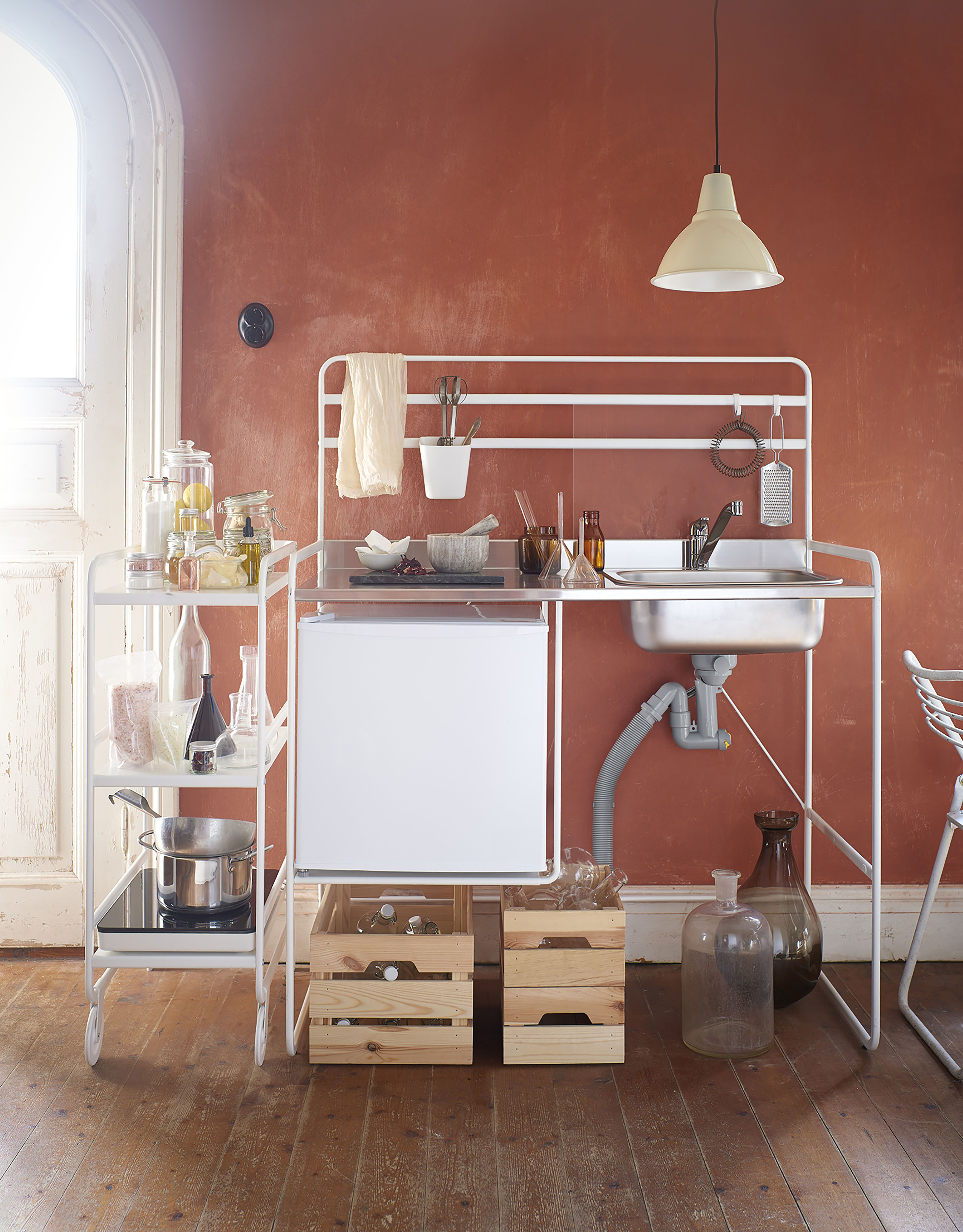 The Ikea Hacks That Ll Dominate 2017 A Top Ten Countdown Mini Kitchen Small Space Kitchen Portable Kitchen