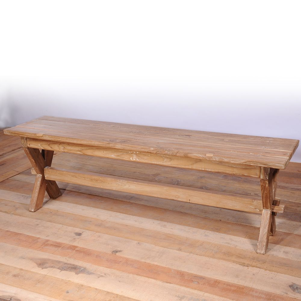 Slatted Teak Dining Bench