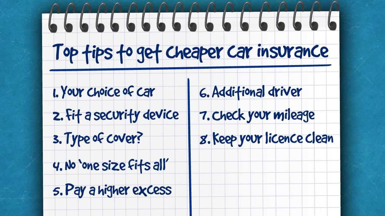 Top Tips For Cheaper Car Insurance Moneysupermarket Cheap Car