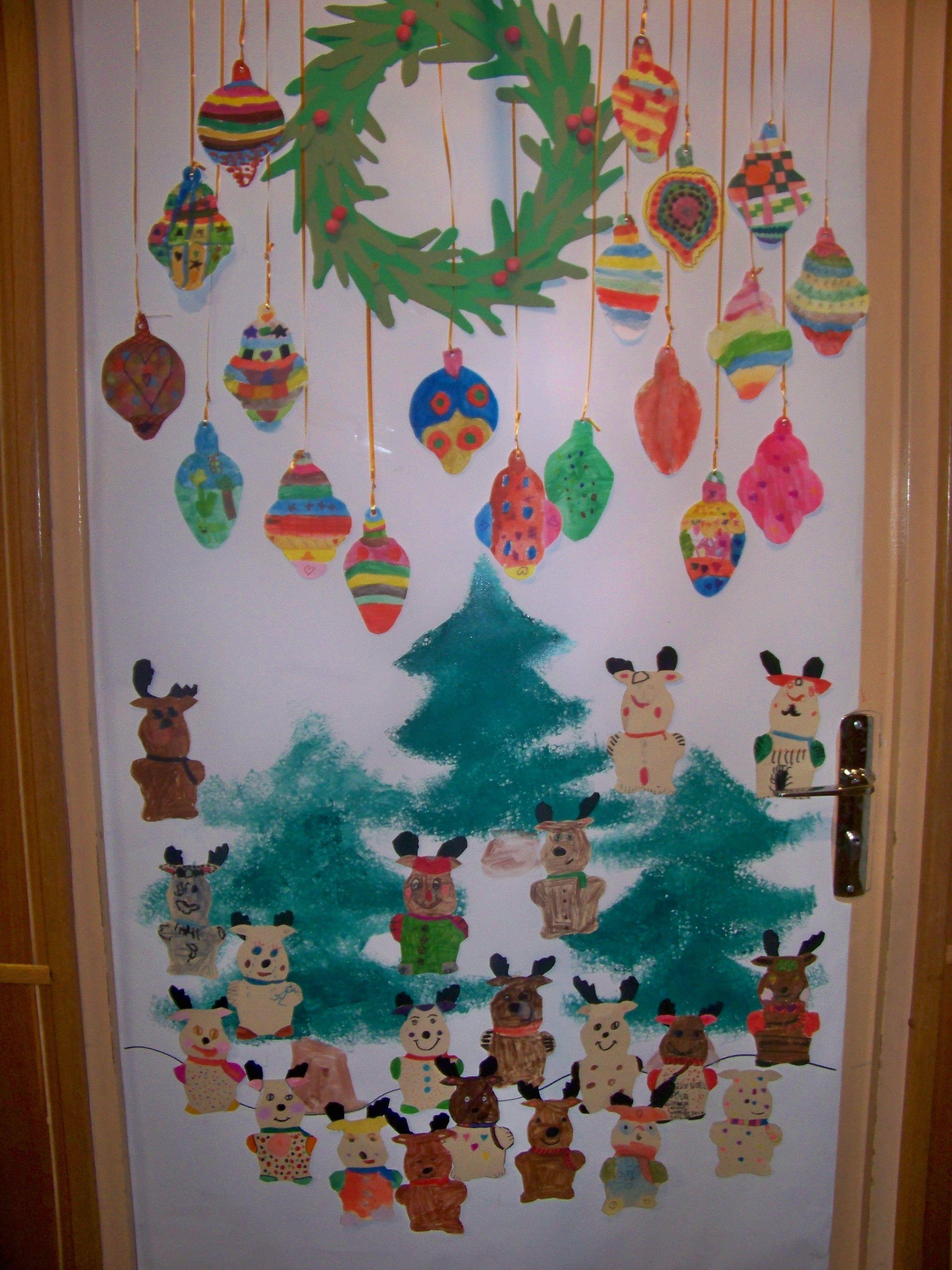 D coration de porte no l cp et ce1 arts plastiques par Decoration de porte noel