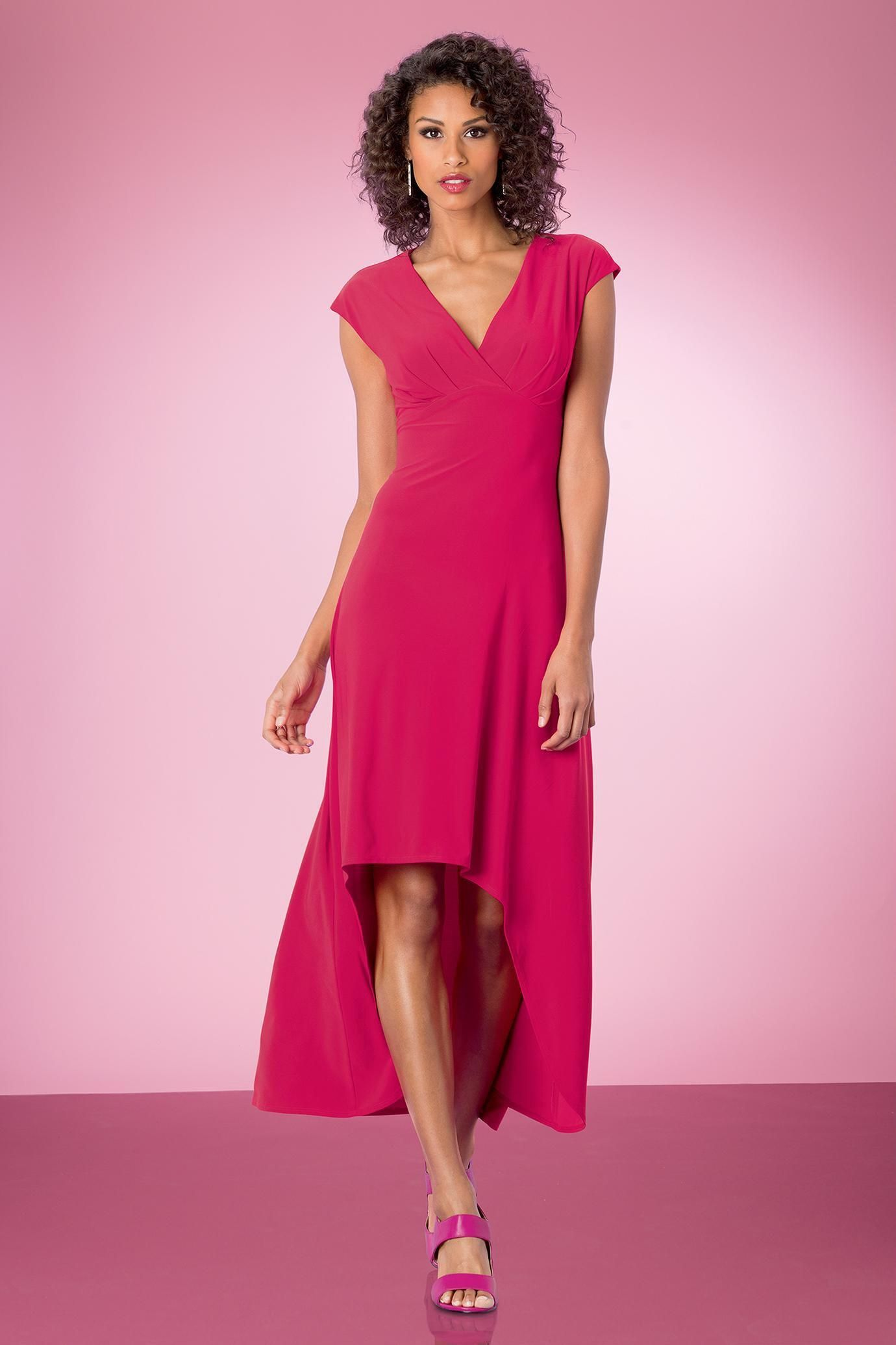 High Low Cap Sleeve Dress | Clothing | Pinterest