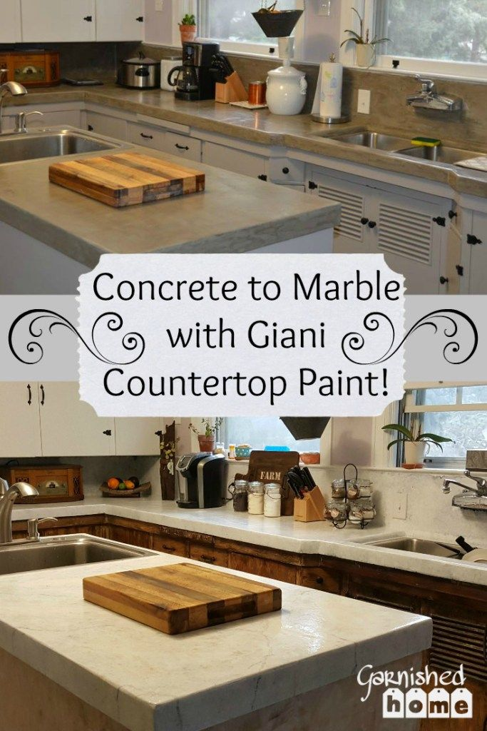 Concrete To Marble With Giani Countertop Paint Easy And