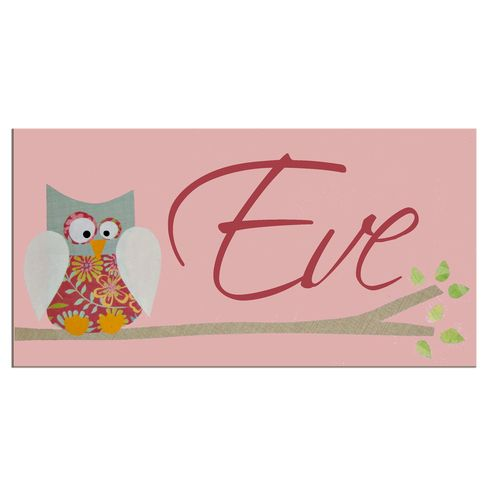 Pink Personalised Owl Door Sign Plaque PERSONALISED NAME PLAQUES