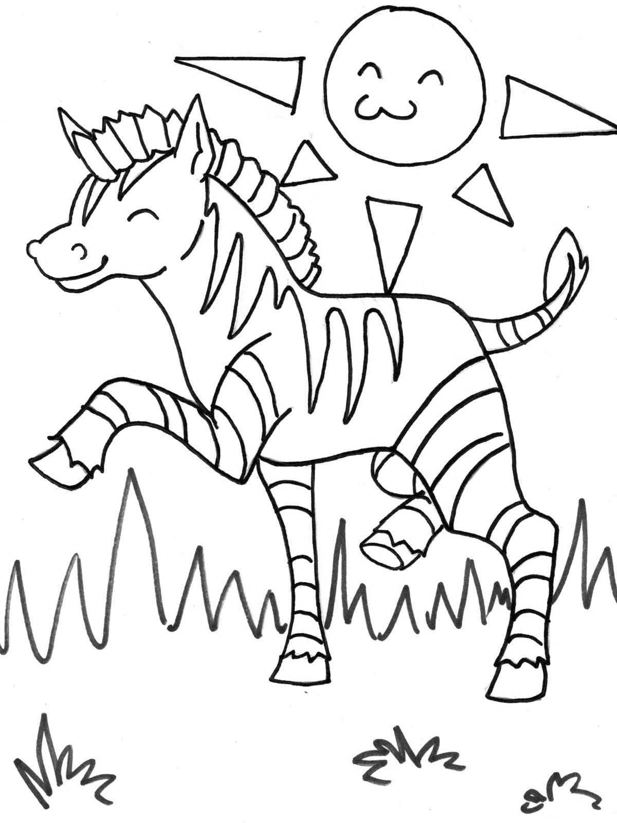 Zebra Coloring Page With Images