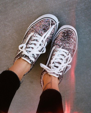 chunky glitter old skool vans clothes and van shoes. Black Bedroom Furniture Sets. Home Design Ideas