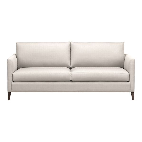 Klyne Sofa Crate Barrel Clean Modern Lines Comfy Barely