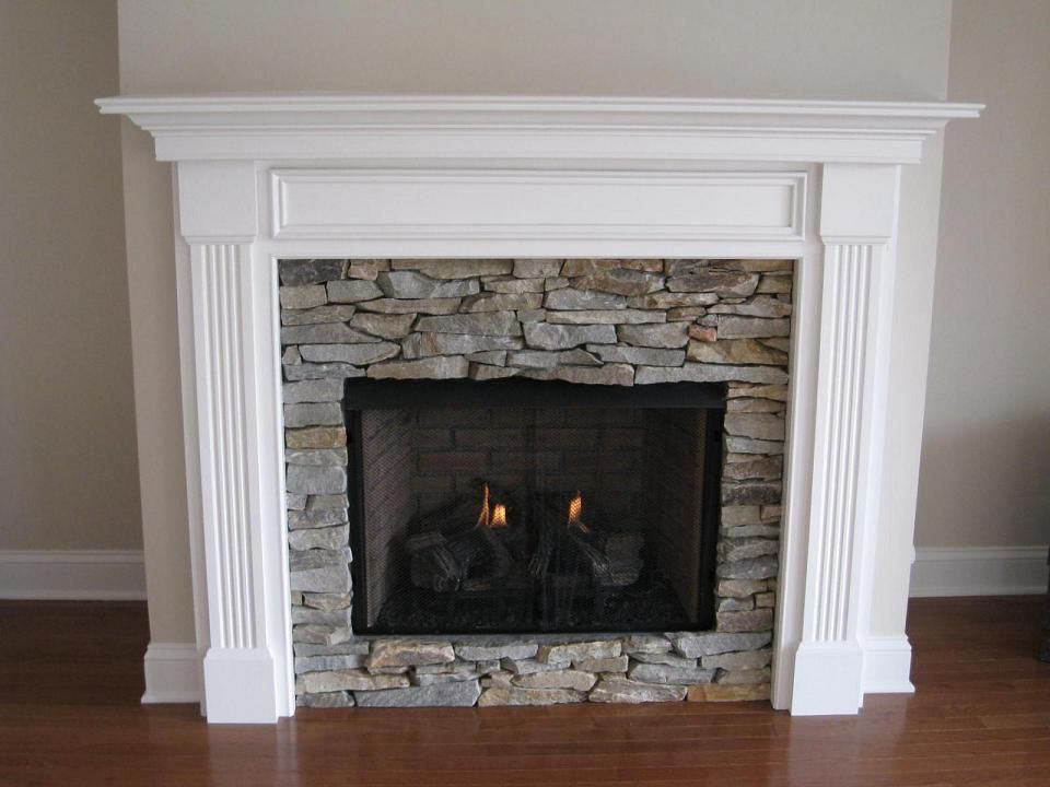 Wood fireplace and Dark stains