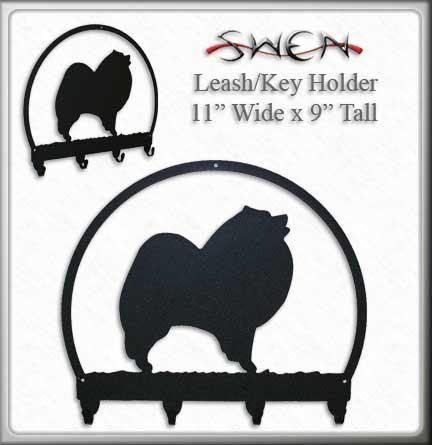 Keeshond Dog Metal Key or Leash Hanger *NEW*