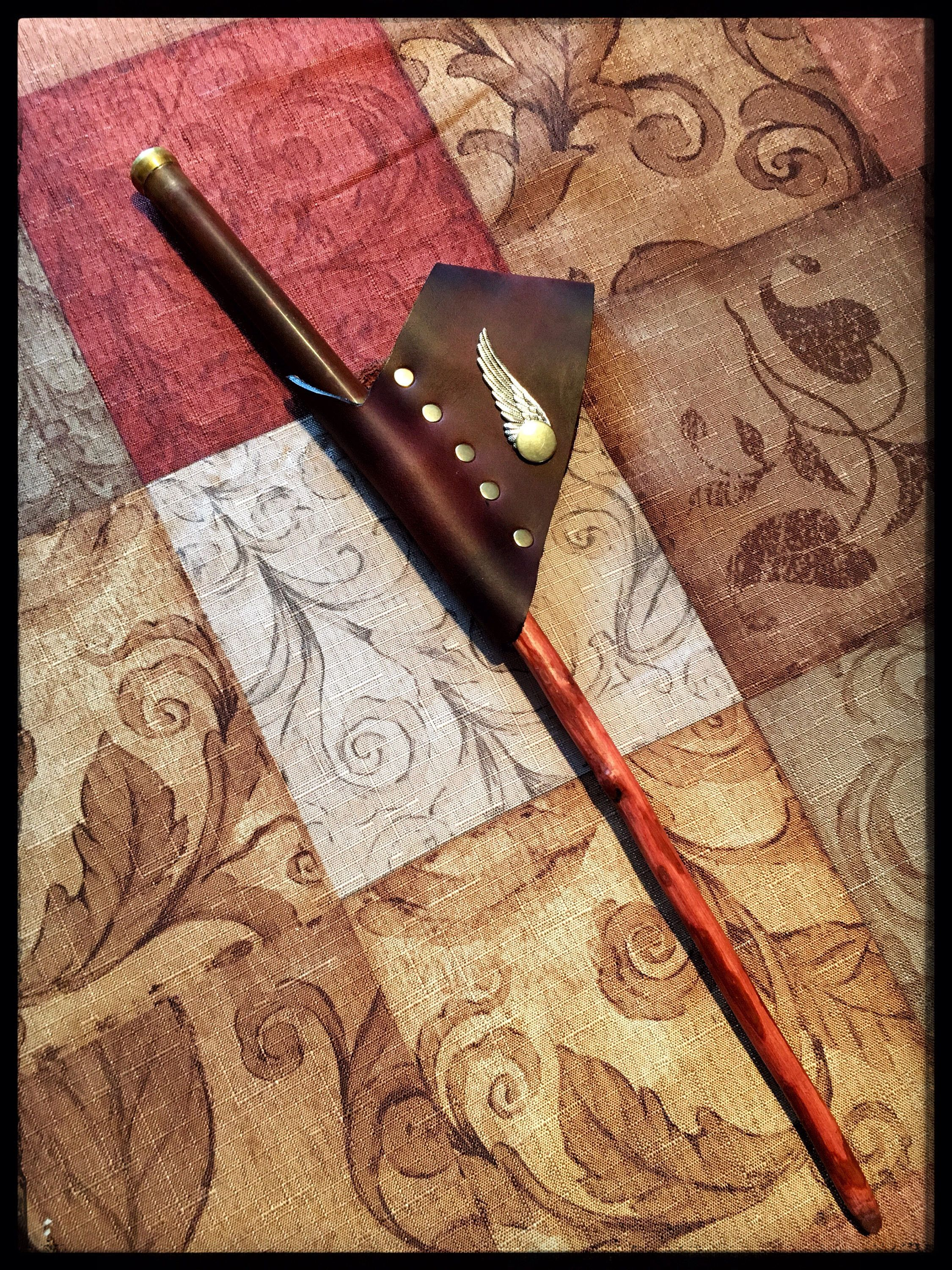 Wand holster with Snitch Snap! by TheWandMakersSon on Etsy